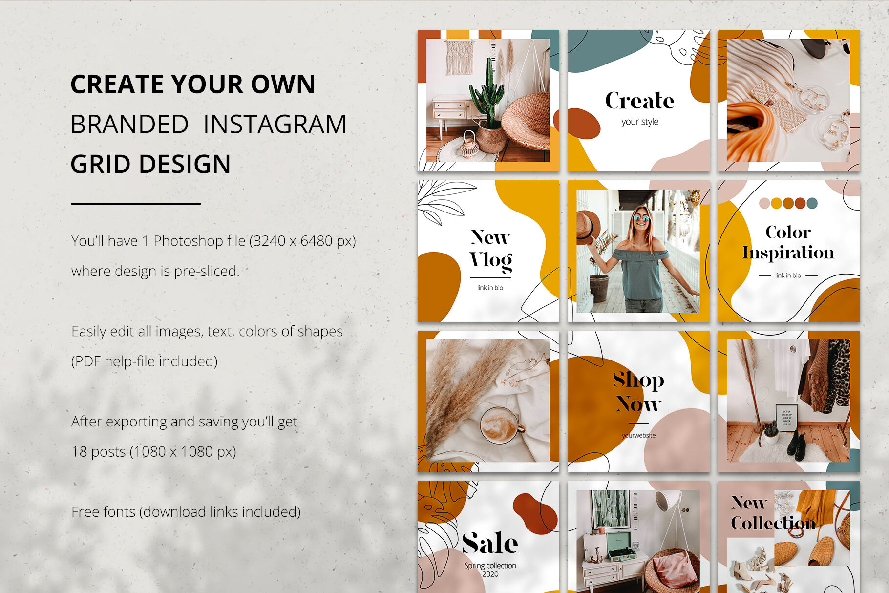 Instagram Puzzle With Shapes Amp Amp Lines By Ekaterina Kiriy