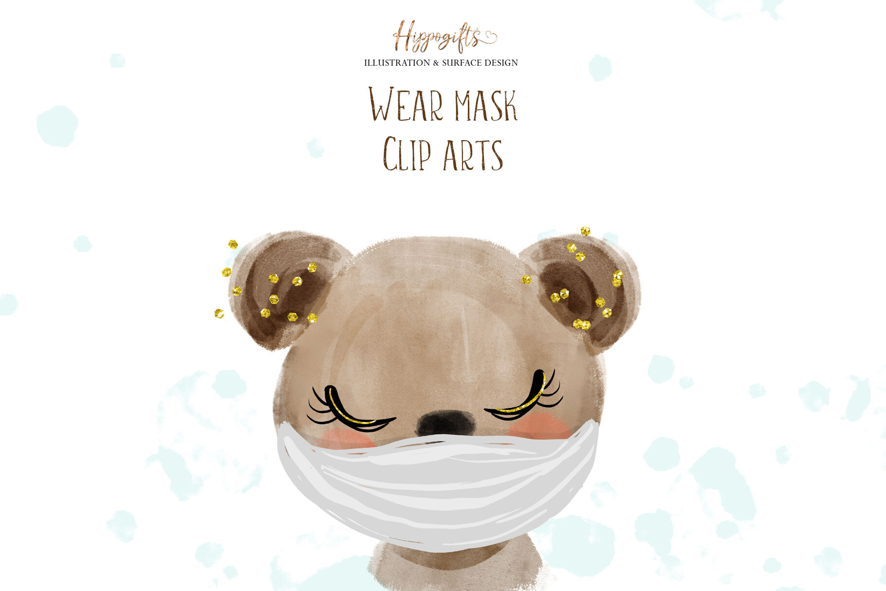 Animals Wear Face Mask Clipart By Hippogifts Thehungryjpeg Com