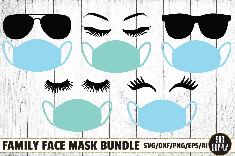 Family Face Mask Bundle Svg Cut File By Svgsupply Thehungryjpeg Com