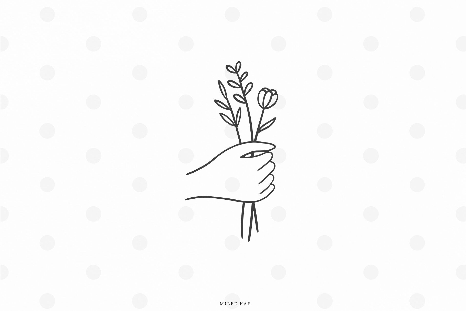 Hand Wildflowers Svg Cut File By Mileekae Thehungryjpeg Com
