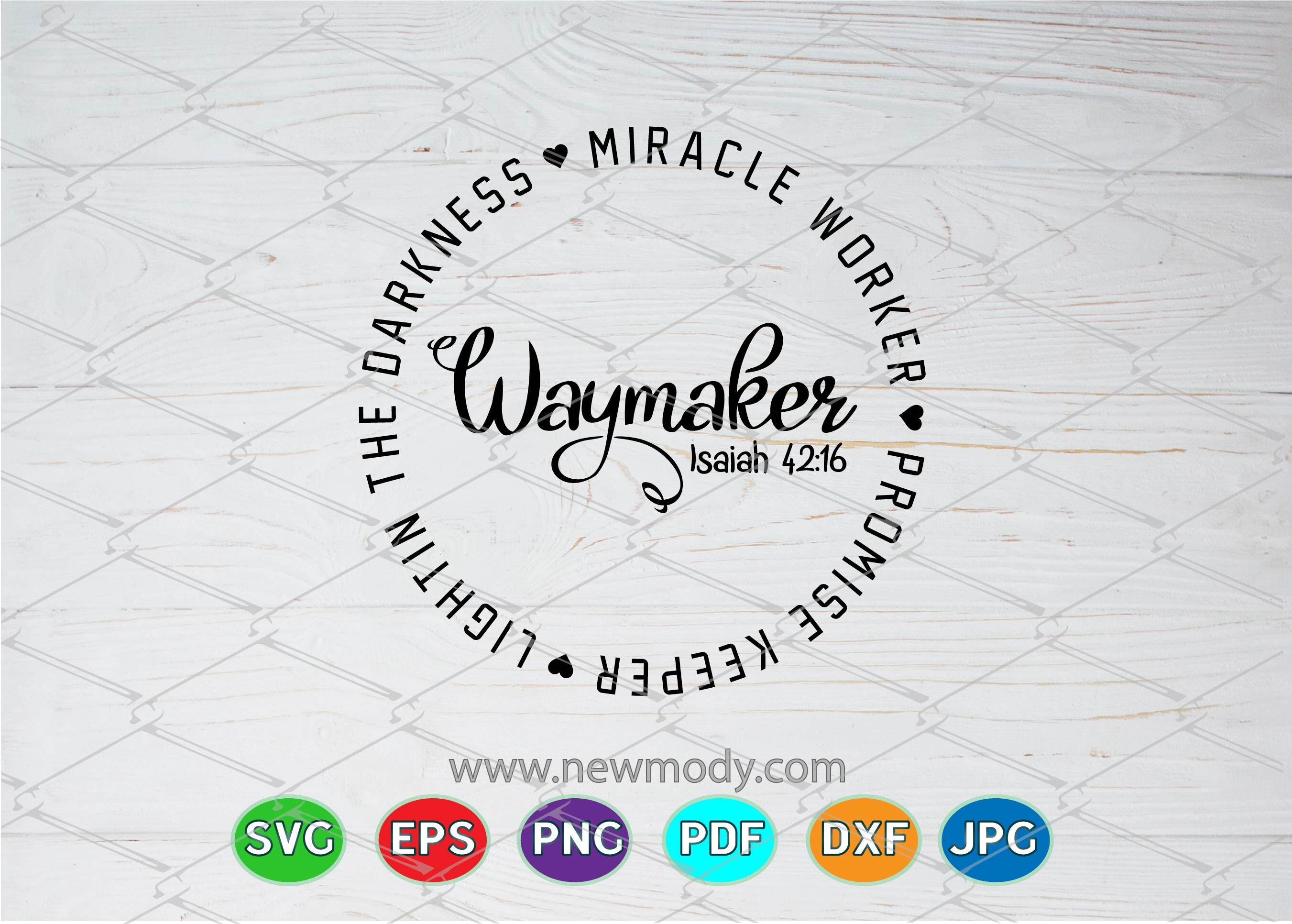 Waymaker Svg Miracle Worker Svg Promise Keeper Svg By Amittaart Thehungryjpeg Com