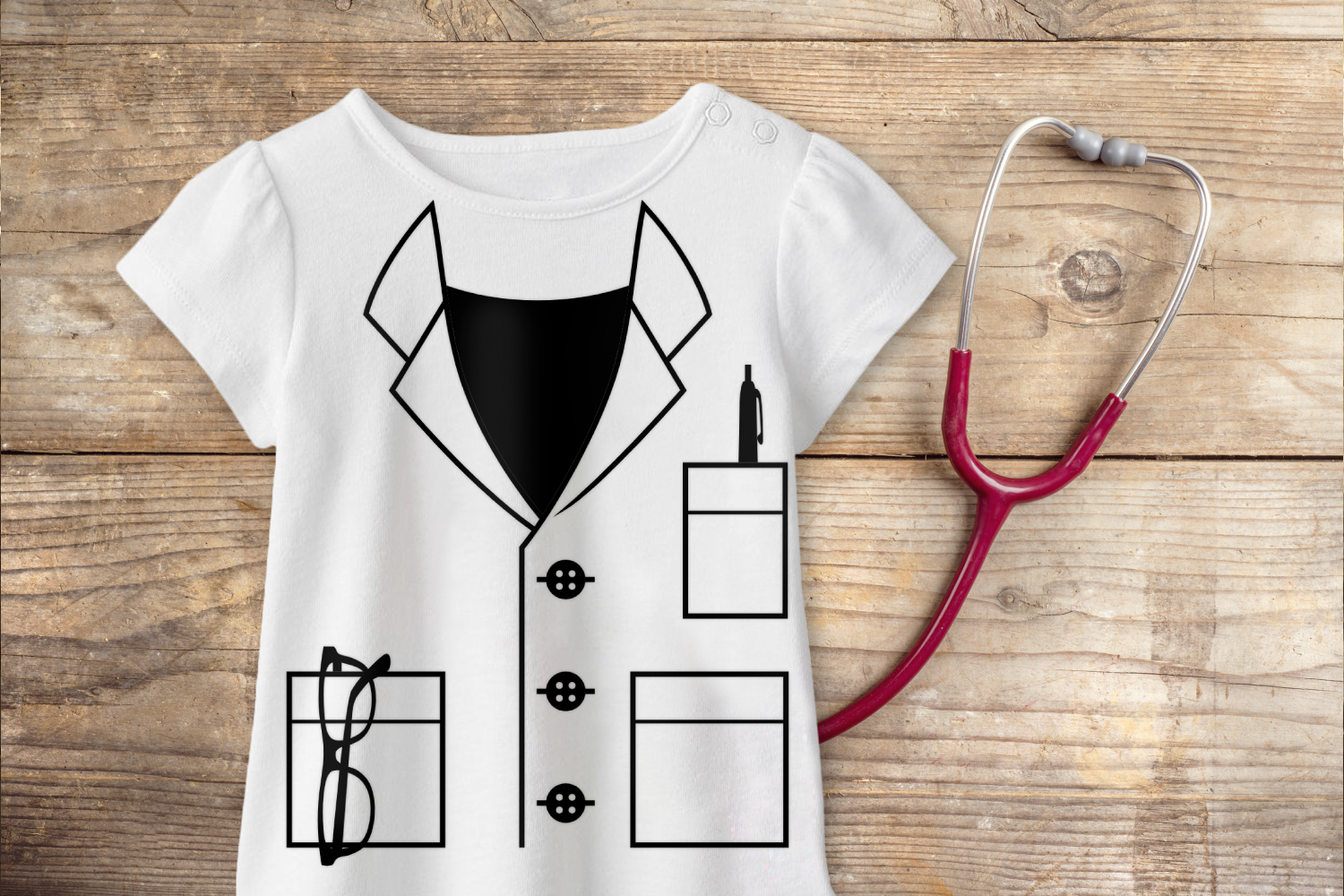 Mock Lab Coat Svg Png Dxf Eps By Designed By Geeks