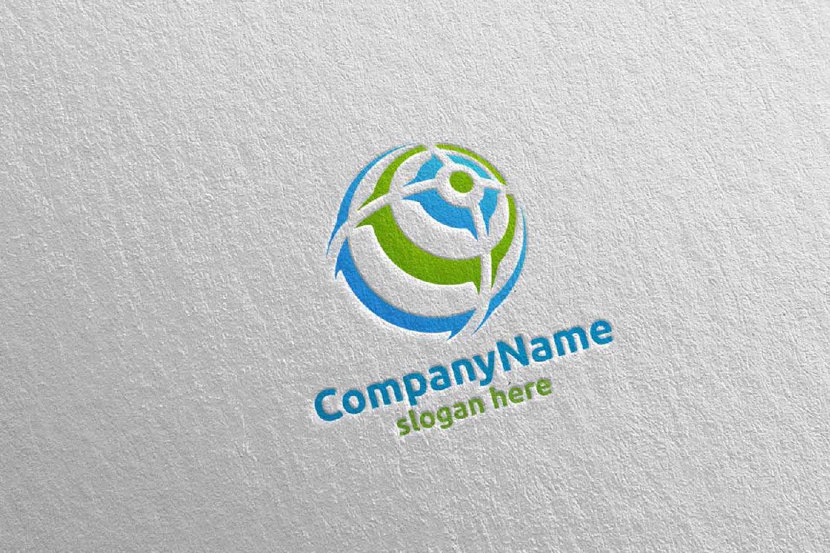 Global Modern Technology Logo Design 8 By Denayunethj