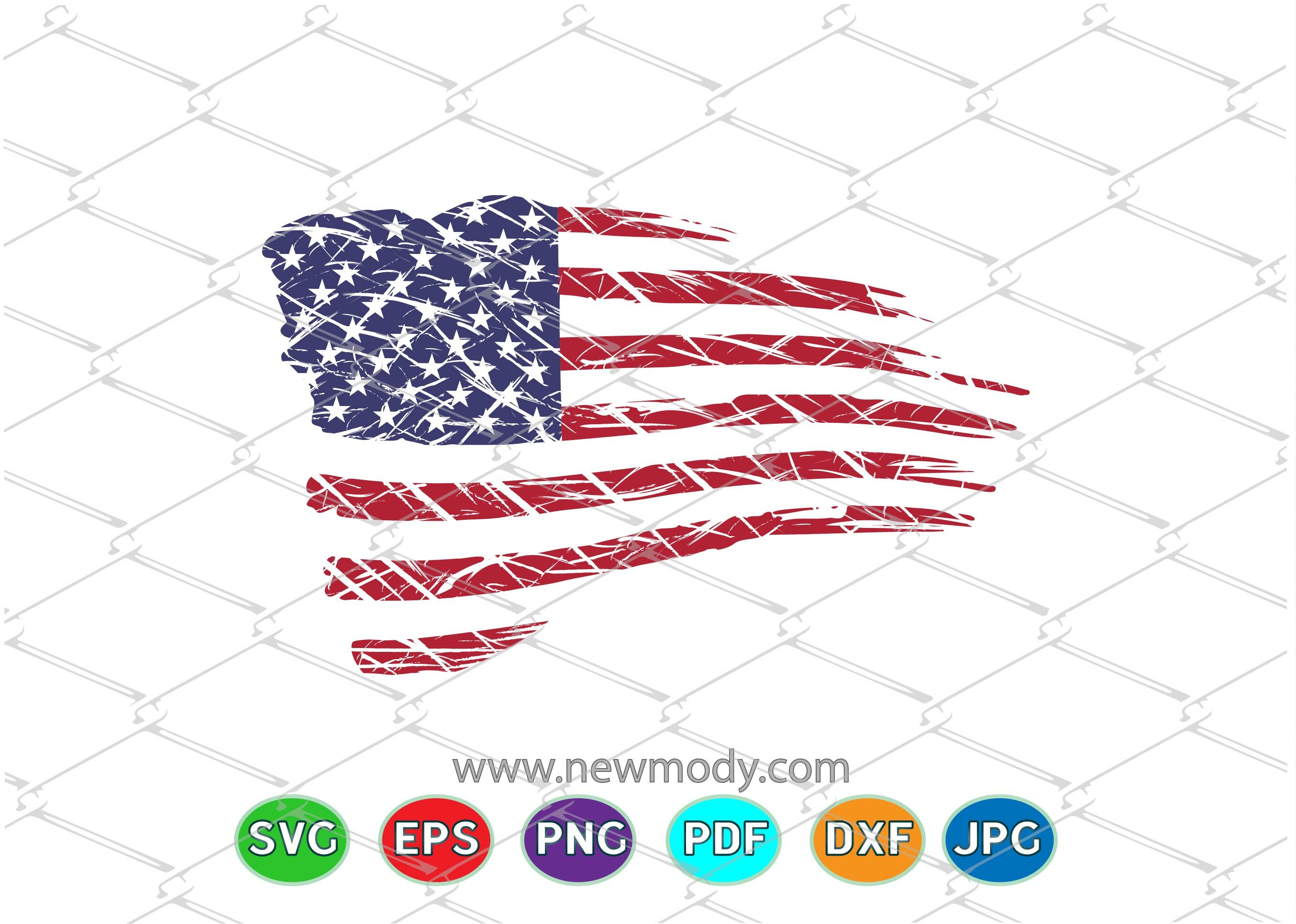 Distressed American Flag Svg Grunge Us Flag Svg By Amittaart