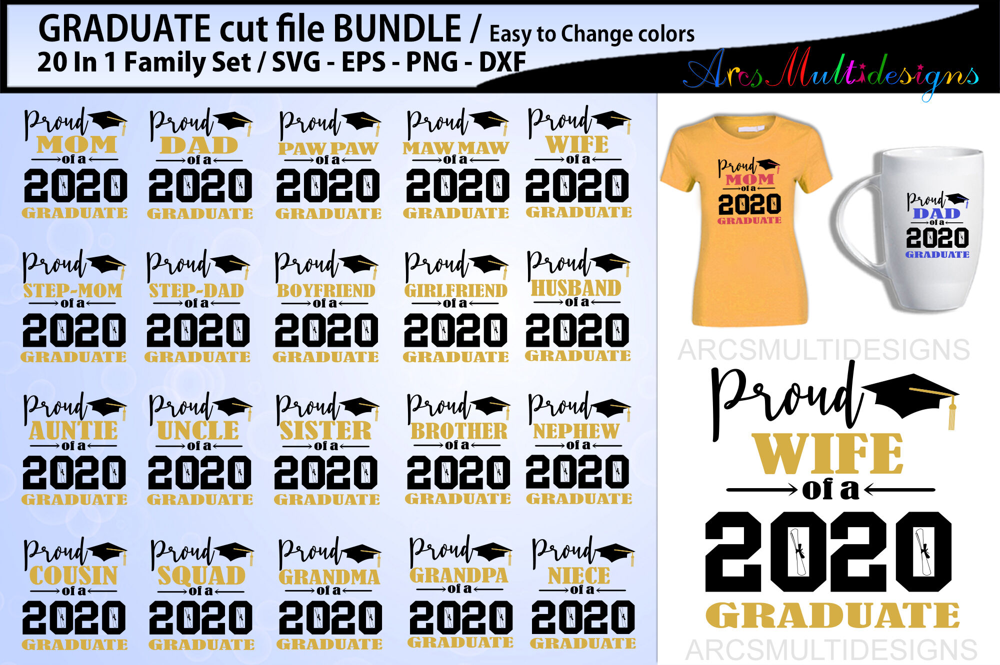 Proud Graduate Cutting File Bundle 2020 By Arcsmultidesignsshop