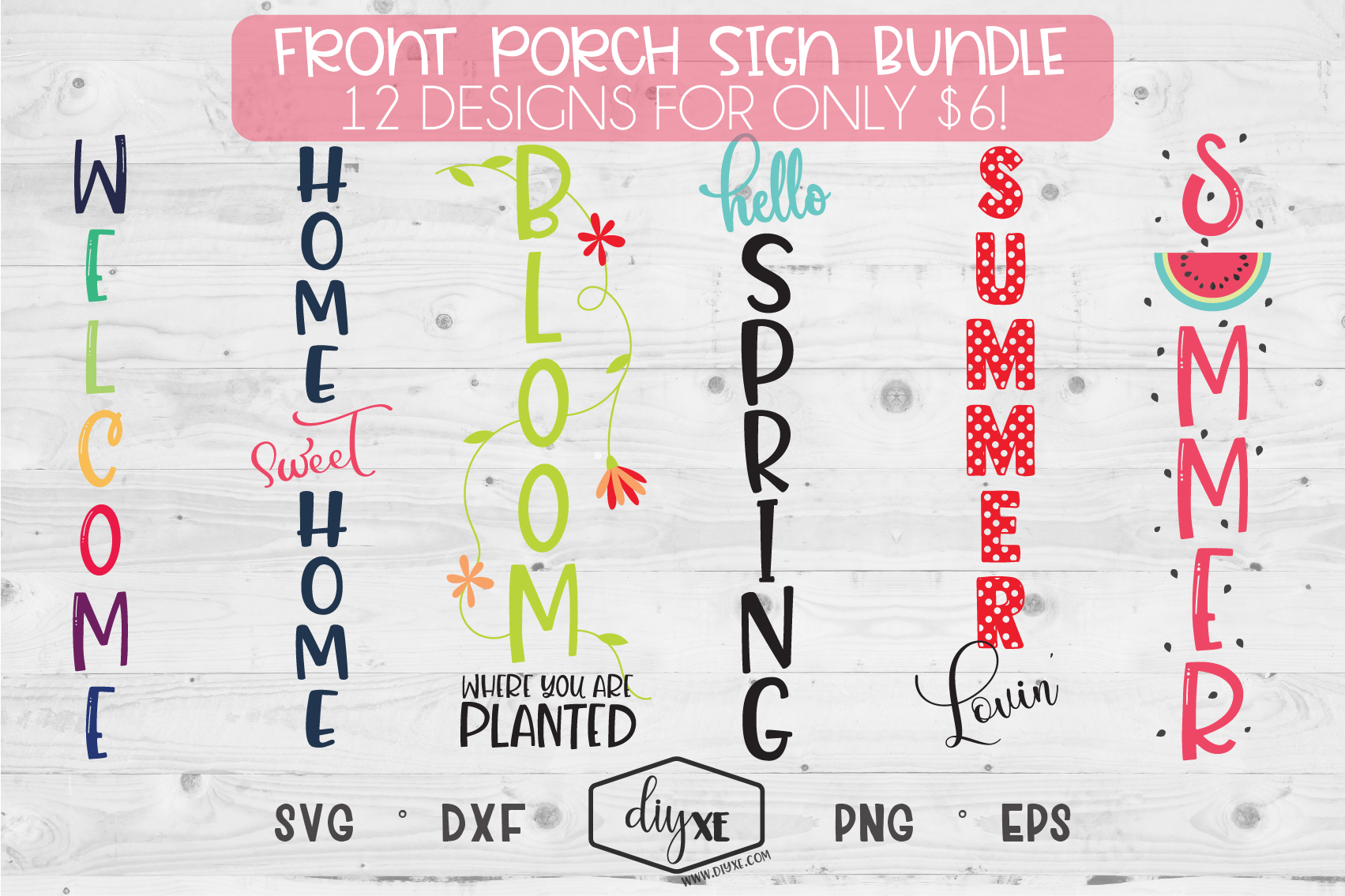 Home Sweet Home Bundle A Collection Of Front Porch Sign Svgs By
