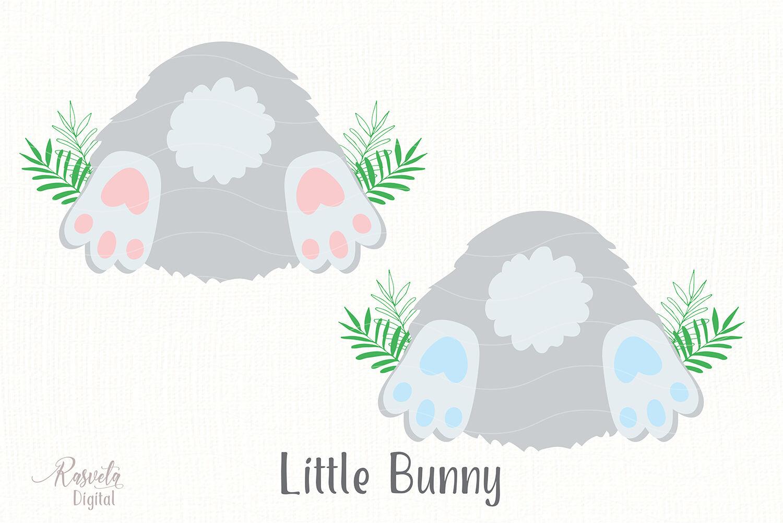 Cute Little Easter Bunny Clipart 3 By Rasveta Thehungryjpeg Com