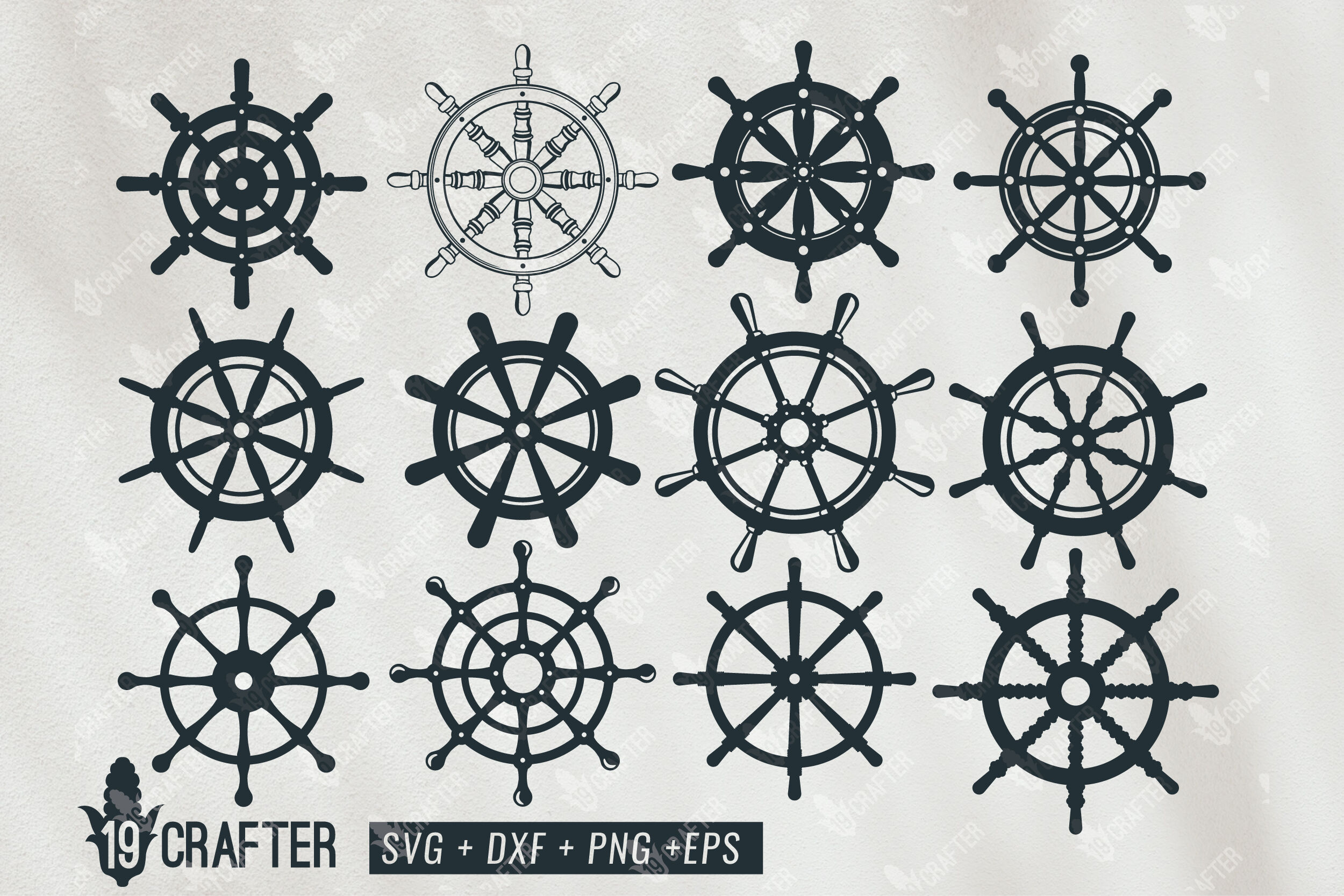 Ship Steering Wheel Marine Theme Svg Bundle By Greatype19