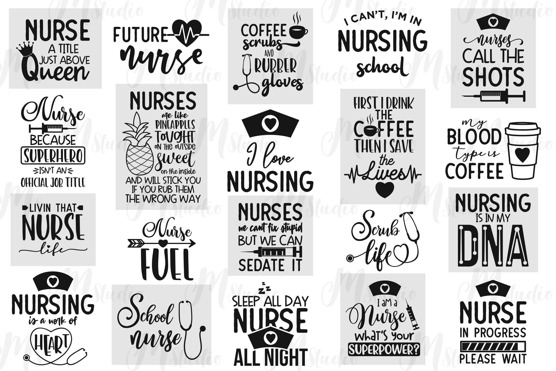 Nurse Quotes Svg Bundle By Mstudio Thehungryjpeg Com
