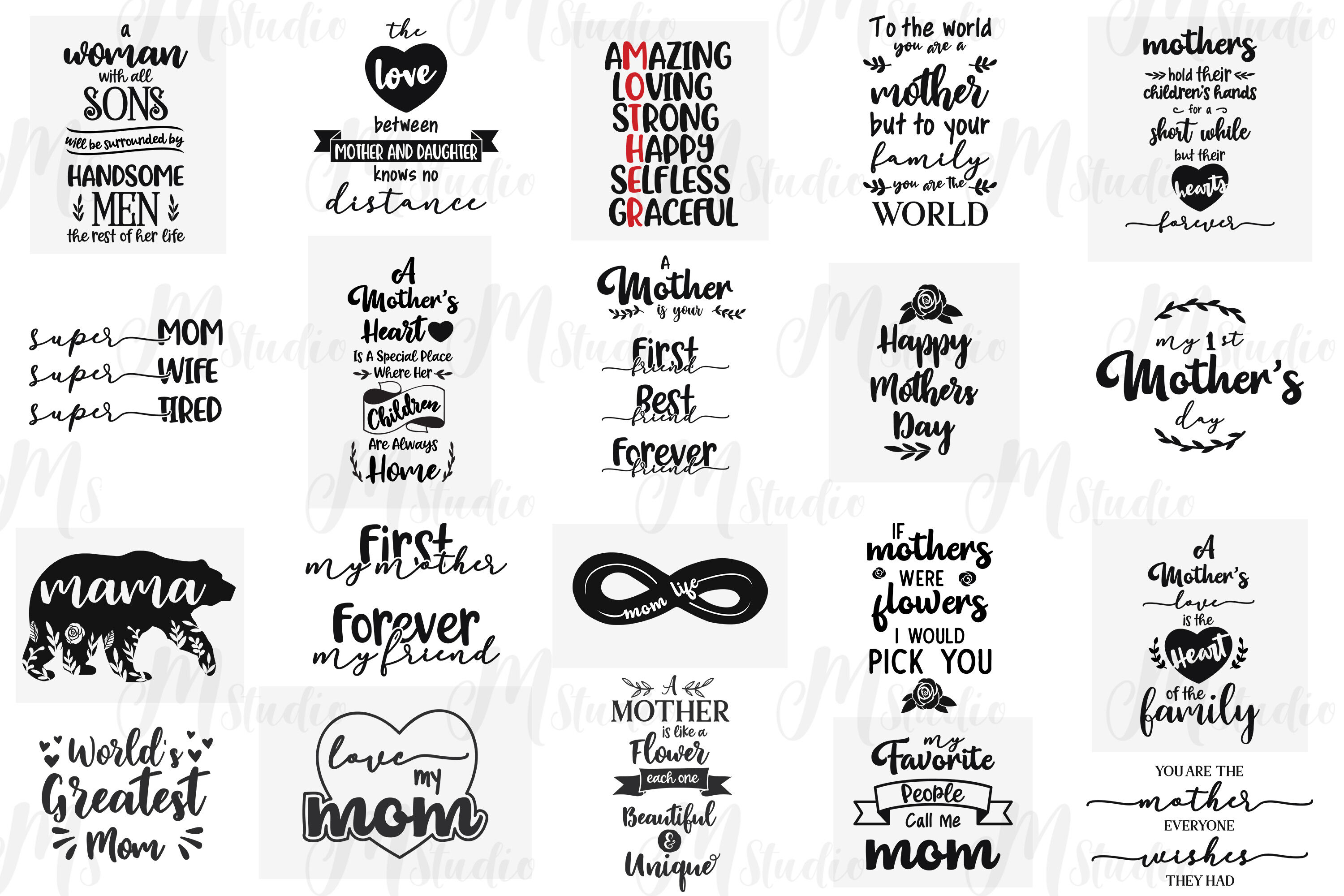 Mothers Day Svg Quotes By Mstudio Thehungryjpeg Com