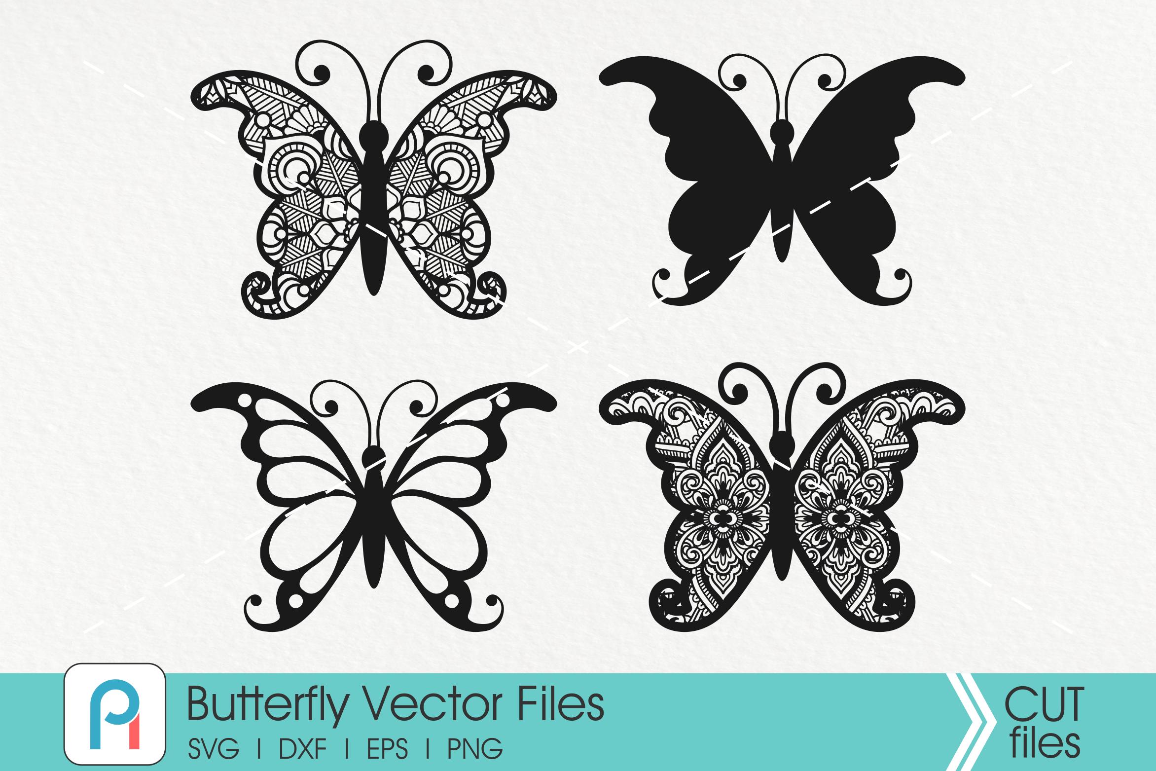 Butterfly Svg Butterfly Mandala Svg Mandala Svg Zentangle Svg