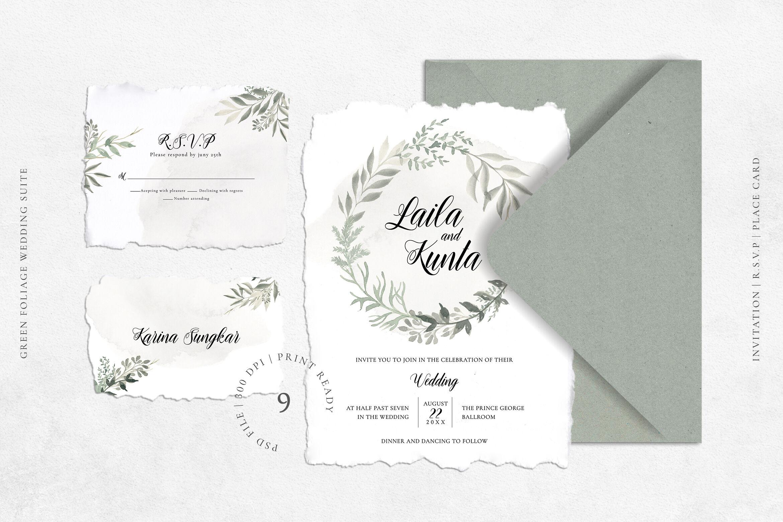 Green Foliage Wedding Suite By Adefastudio Thehungryjpeg Com
