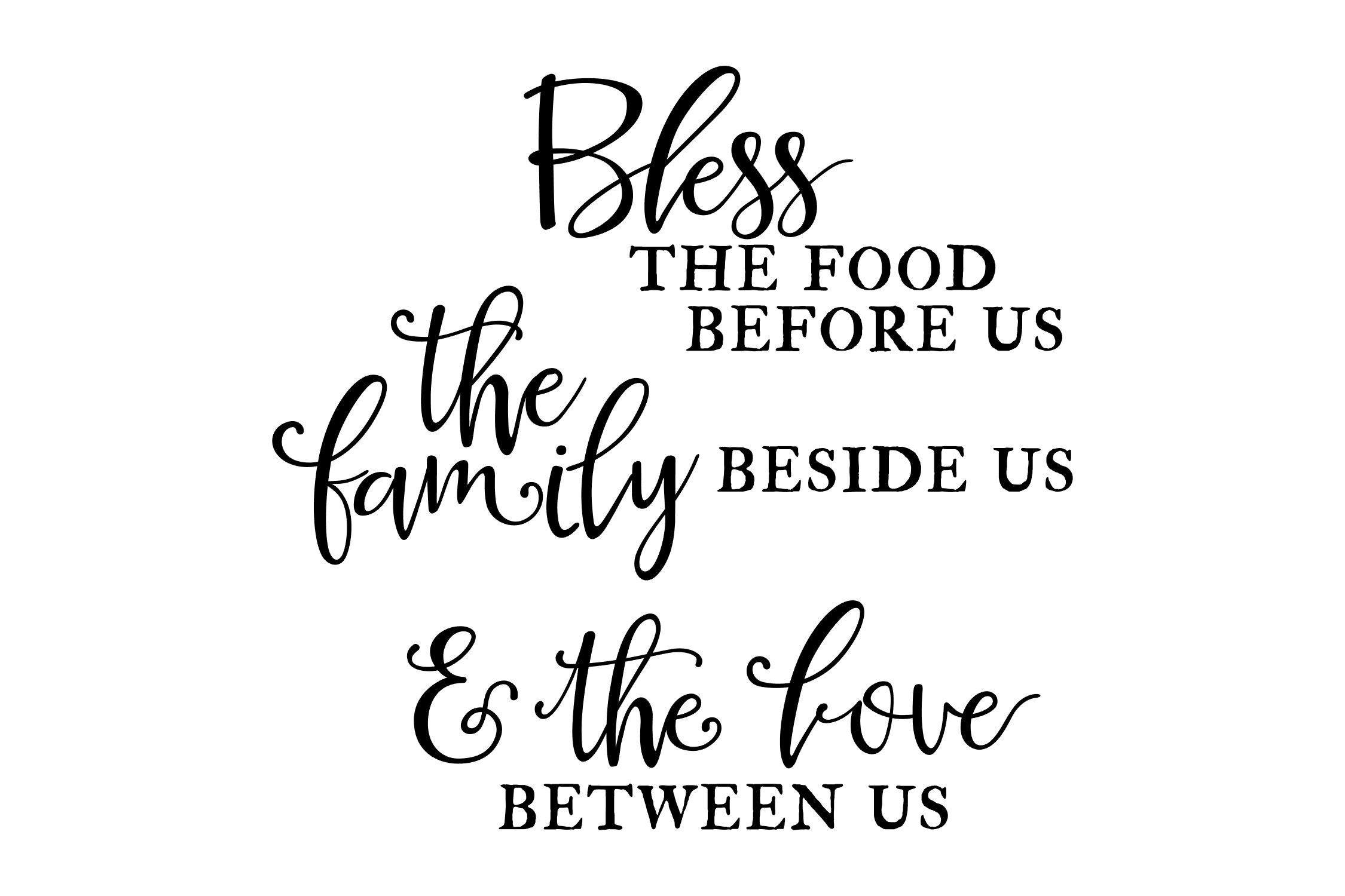 Bless The Food Family Love Svg Png Eps By Studio 26 Design Co