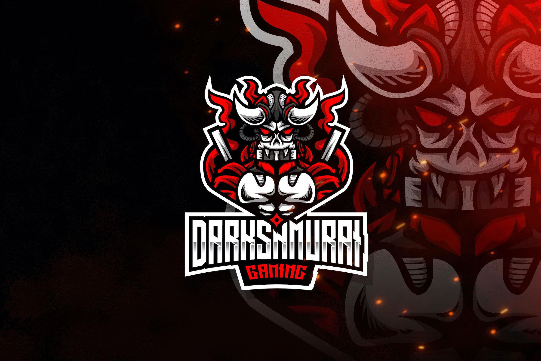 Dark Samurai Esport Logo Template By Stringlabs Thehungryjpeg Com
