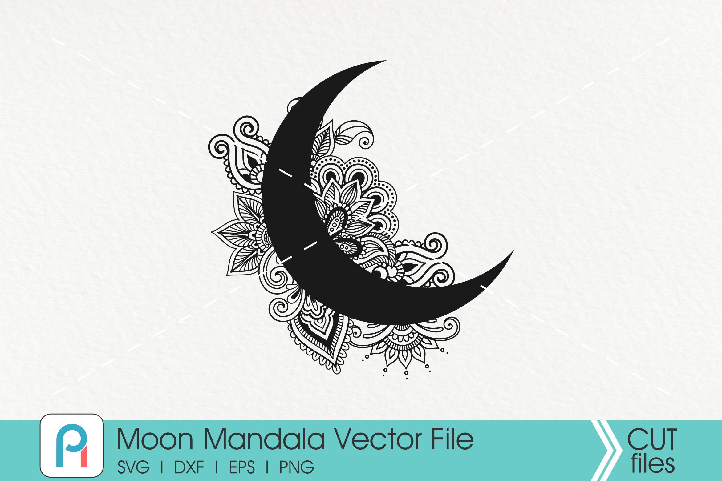 Moon Mandala Svg Moon Svg Crescent Moon Svg Mandala Svg By