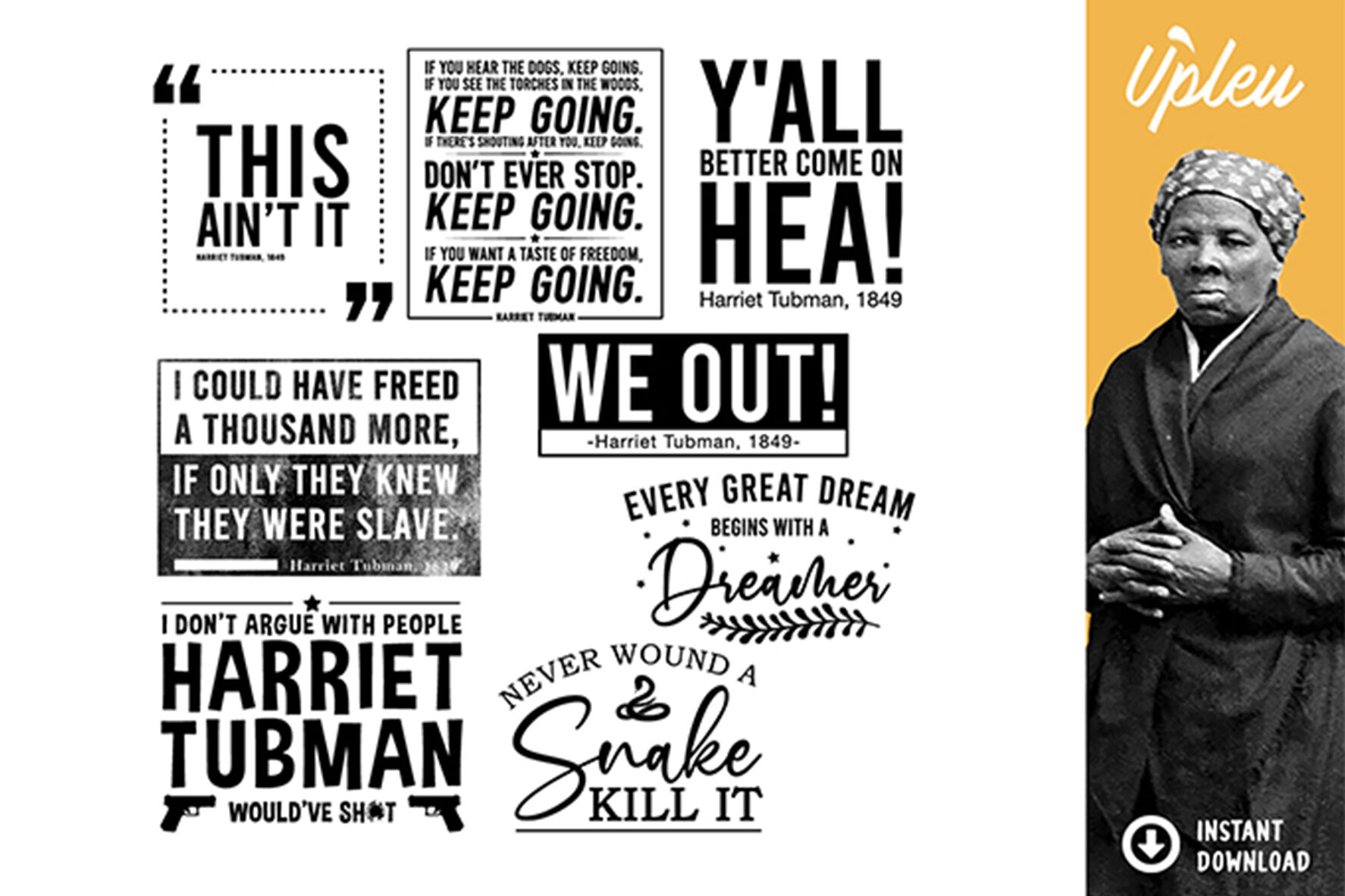 Harriet Tubman Quotes Svg By Ariodsgn Thehungryjpeg Com