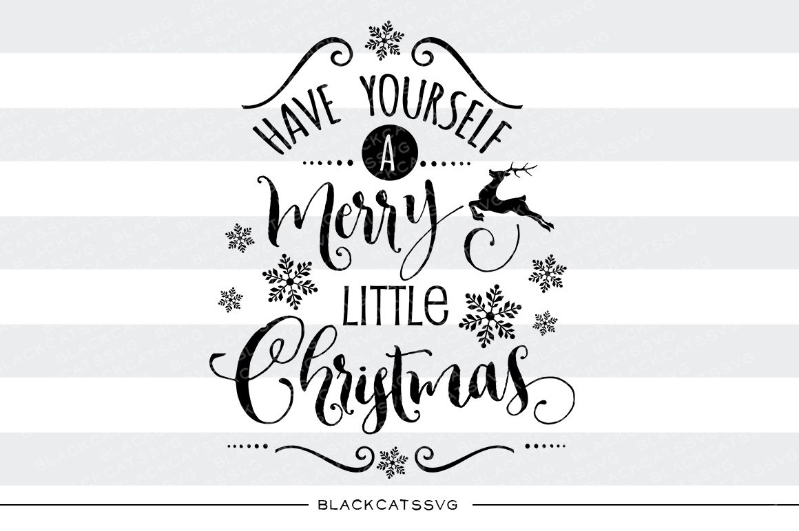 Merry Little Christmas SVG Files