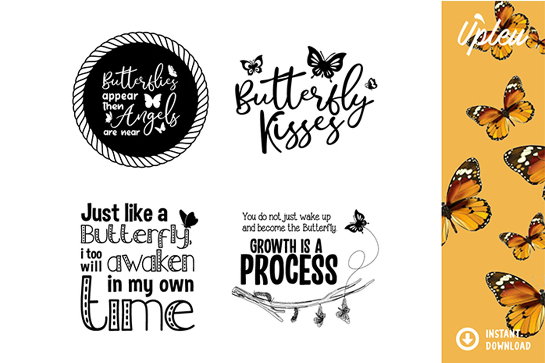Butterfly Quotes Svg By Ariodsgn Thehungryjpeg Com