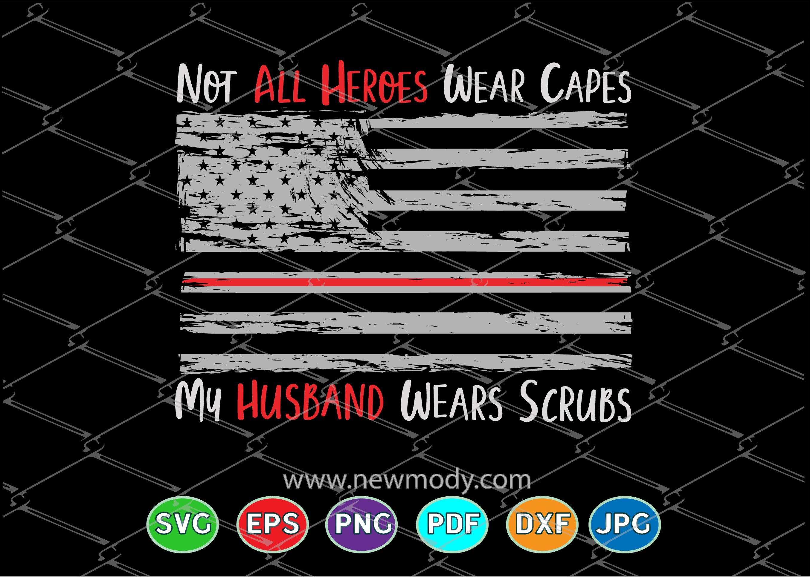 Our Heroes wear scrubs decal