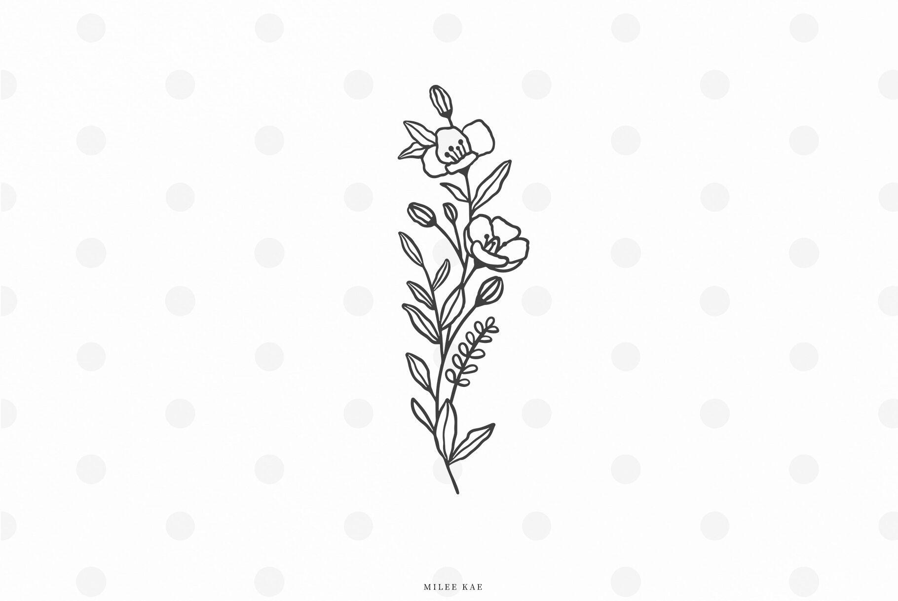 Wildflowers Svg Cut File By Mileekae Thehungryjpeg Com