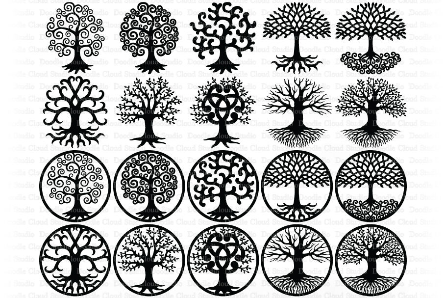 Tree Of Life Svg Tree Svg Tree Of Life Clipart By Doodle Cloud