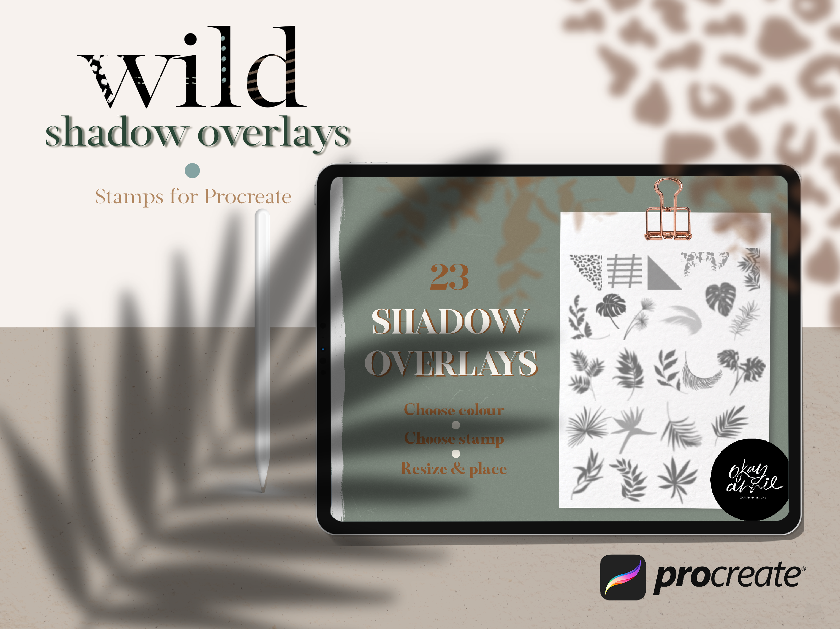 Wild Shadow Overlays For Procreate By Okayannie Designs