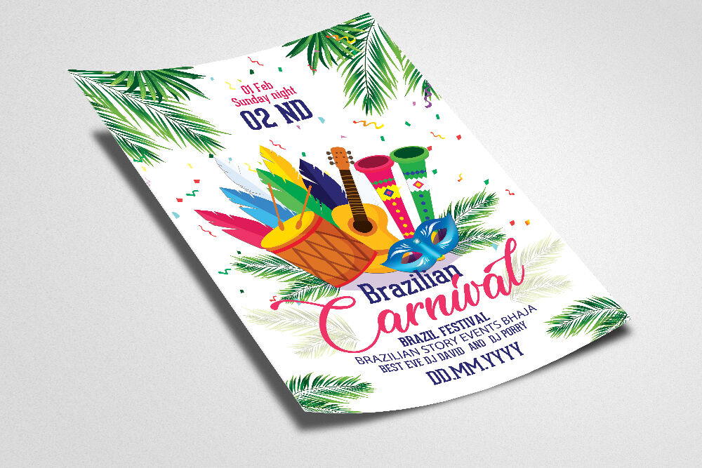 Caribbean Carnival Flyer Template By Designhub Thehungryjpeg Com