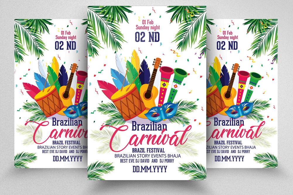 Caribbean Carnival Flyer Template By Designhub TheHungryJPEG.com