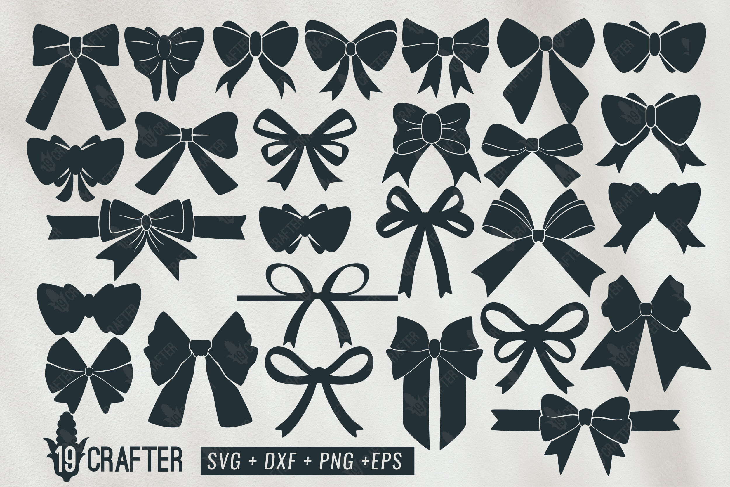 Cute And Beautiful Bow Tie Ribbon Knot Svg Bundle By Greatype19