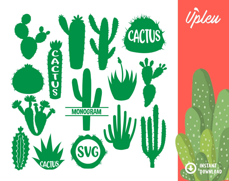 Cactus Bundle Svg By Ariodsgn Thehungryjpeg Com