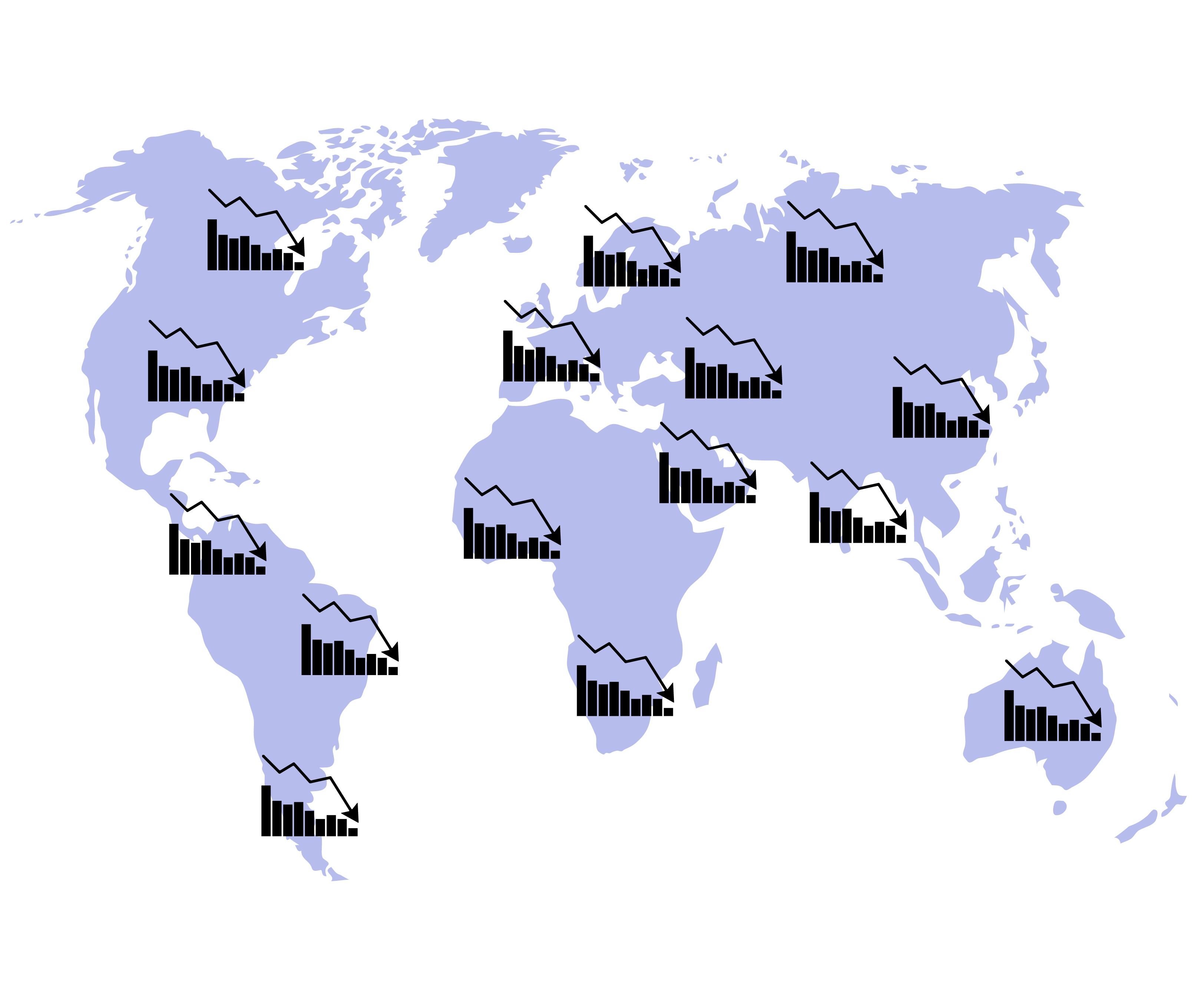 World Crisis Charts Global Recession On Map By 09910190