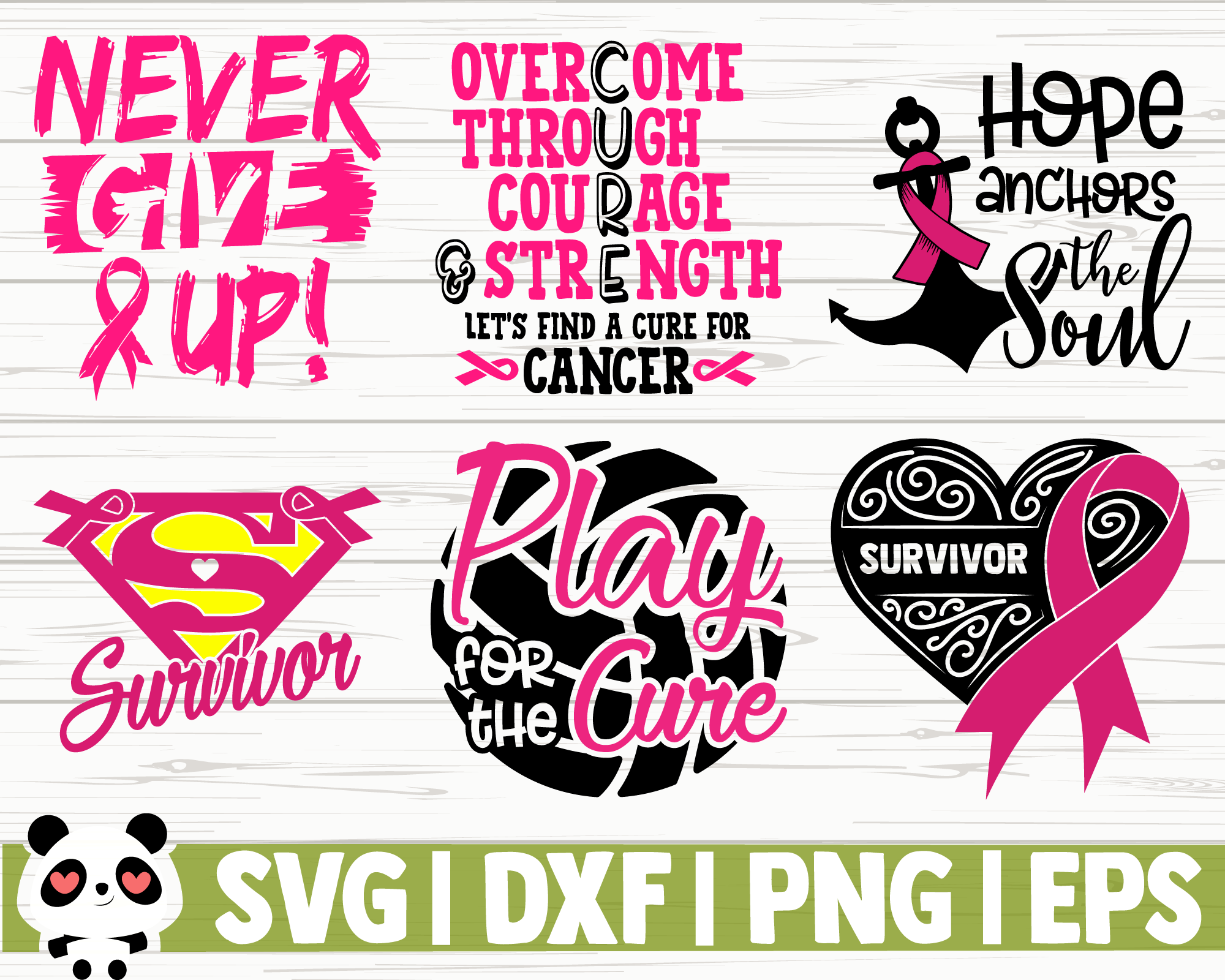 50 Breast Cancer Awareness Quotes Bundle By Creativedesignsllc