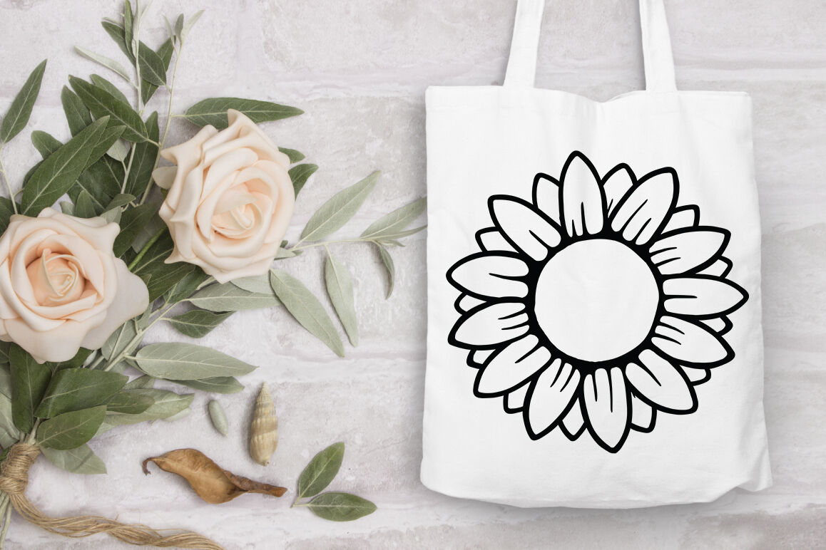 Sunflower Svg Sunflower Monogram Split Monogram By Doodle Cloud