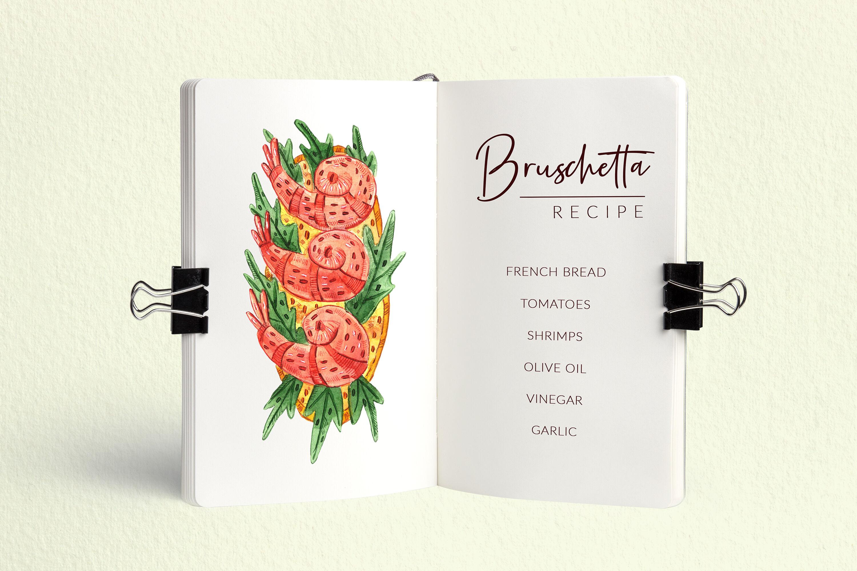 Bruschettas High Quality Watercolor Clip Art By Fox Biz