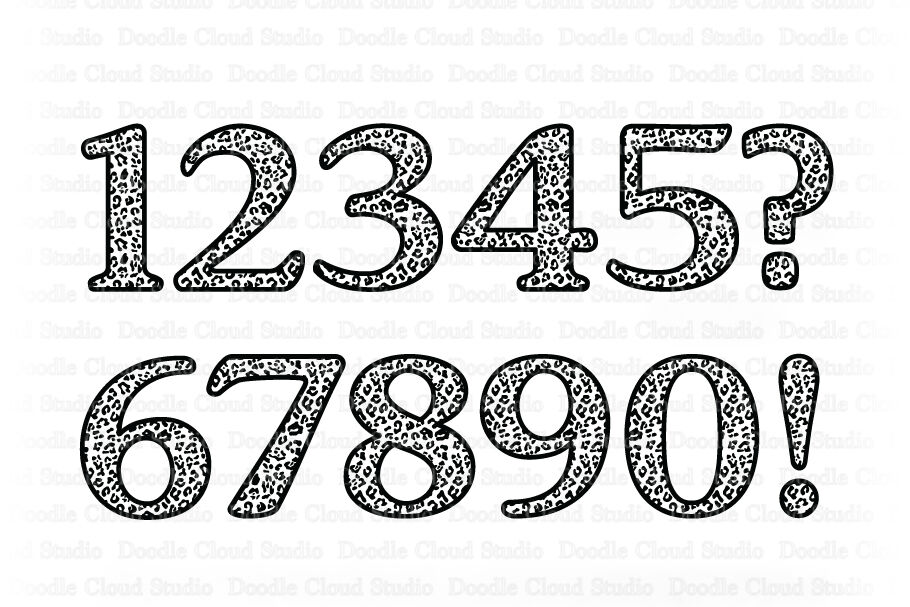 Leopard Numbers Svg Animal Numbers Svg Cut Files By Doodle Cloud