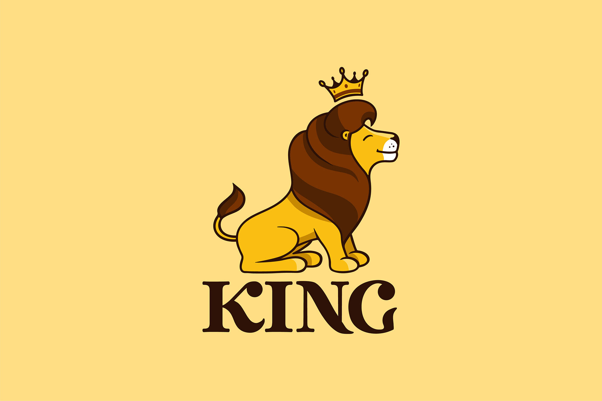 The Lion King Logo By Lettering Logo Thehungryjpeg Com