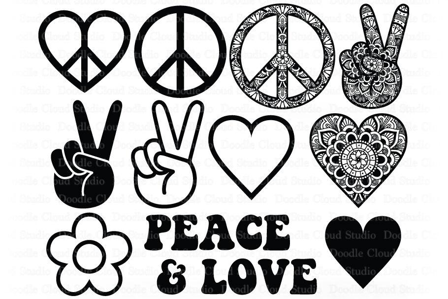 Peace Love Bundle Svg Peace Symbol Svg Peace Sign Mandala By