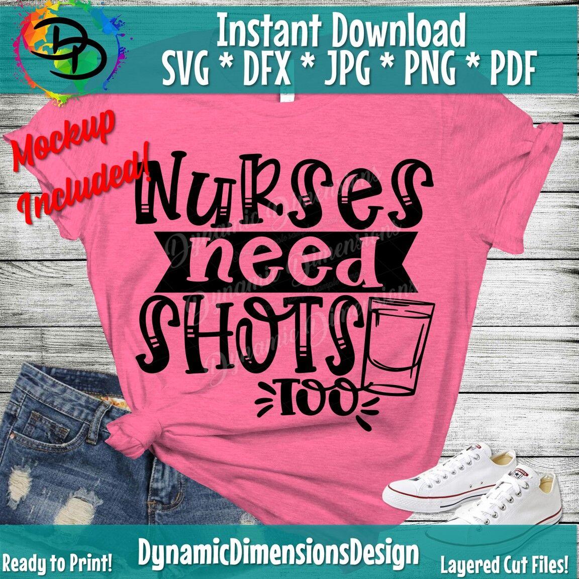 Nurse Svg Funny Nurse Shots Nurse Sublimation Nurse Svg Peace