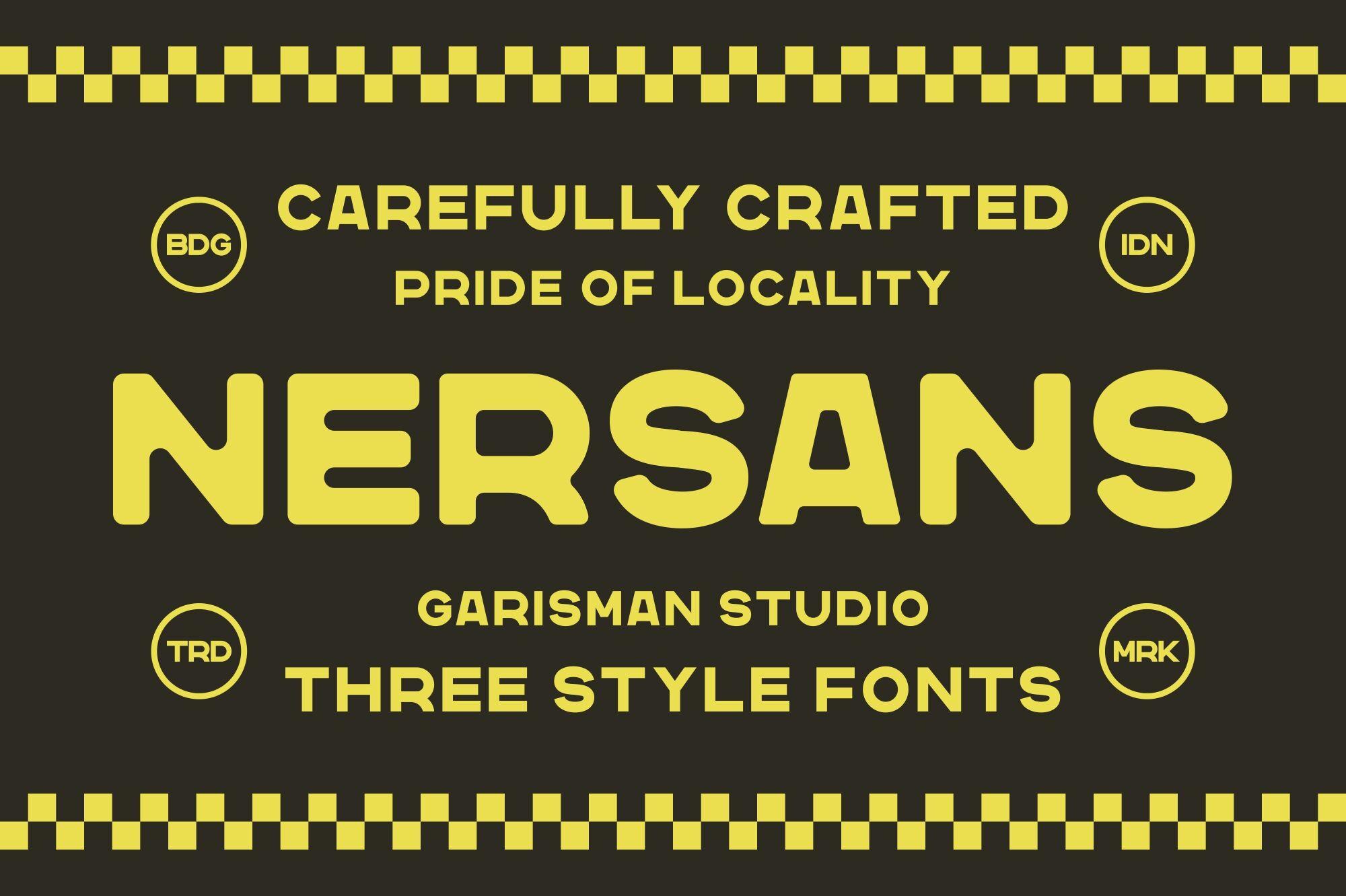 Nersans Vintage Font By Garisman Studio Thehungryjpeg Com