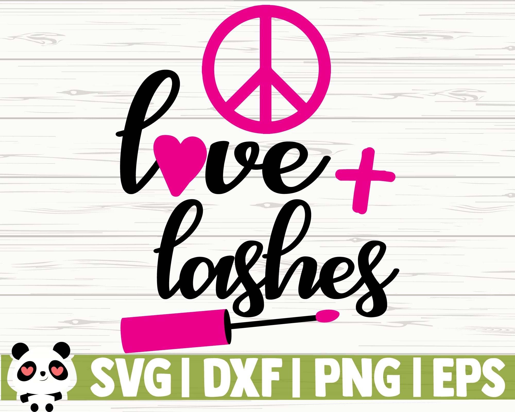 Love And Lashes By Creativedesignsllc Thehungryjpeg Com