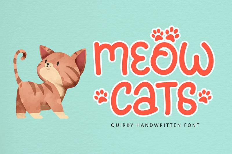 Meowcats A Quirky Font Special For Cats Lover By Illushvara