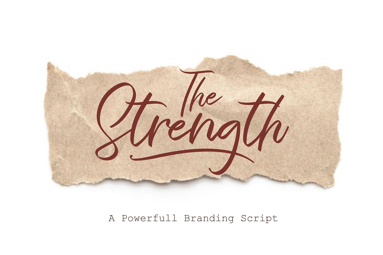 The Strength A Branding Script By Aminmario Thehungryjpeg Com