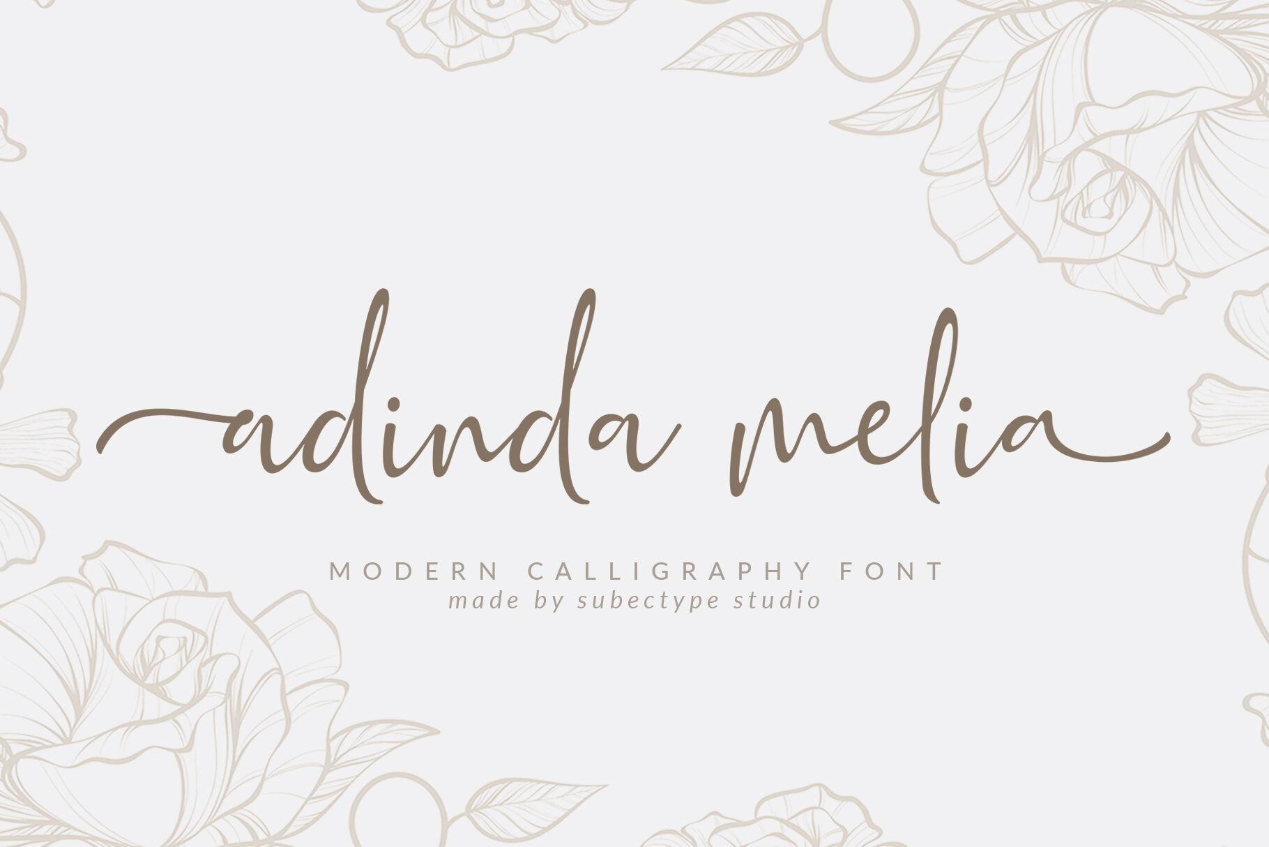 Adinda Melia Modern Calligraphy Font By Subectype