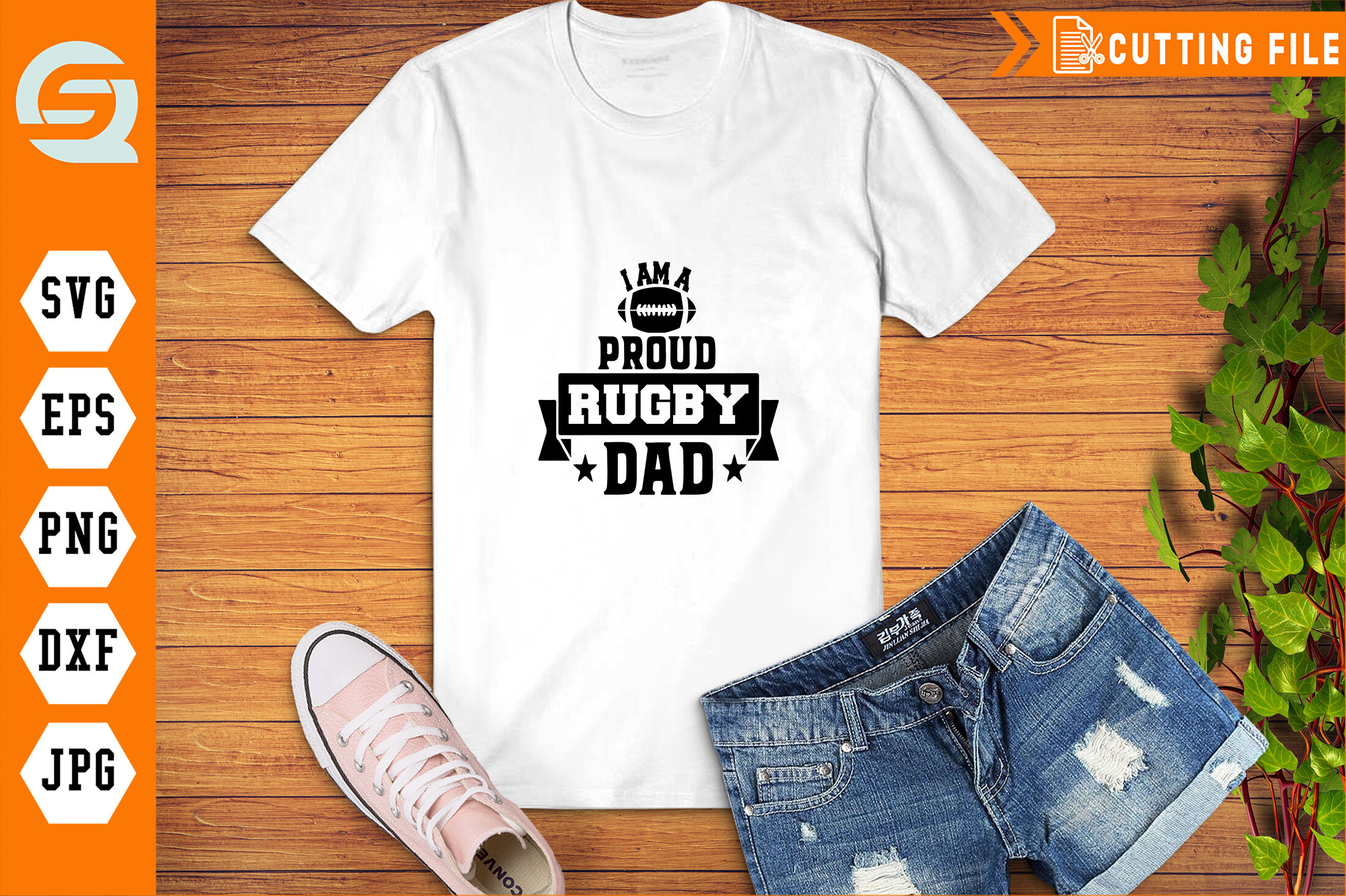 I Am A Proud Rugby Dad Svg Rugby Sport Lovers By Makinastudio