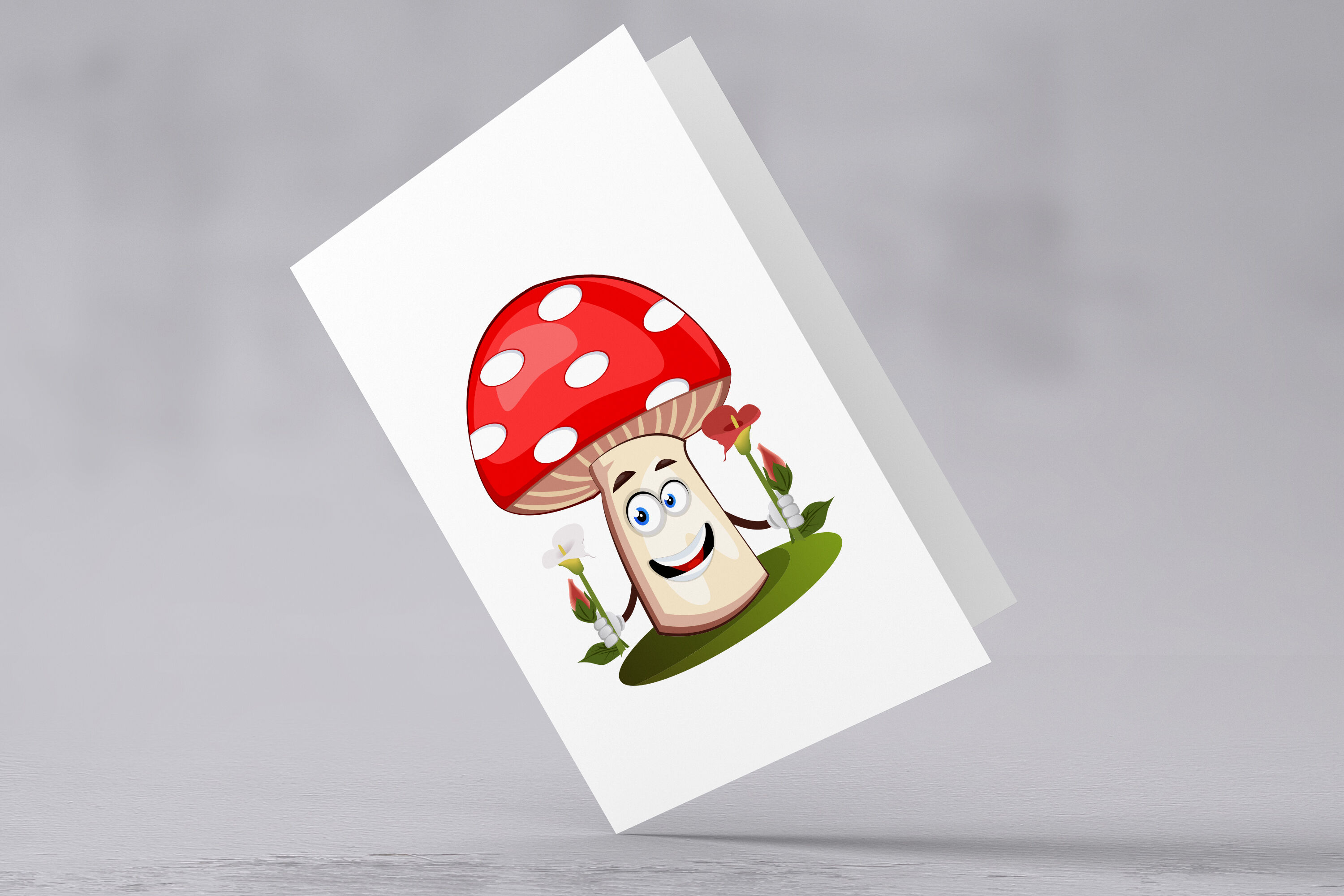 38x Mushroom Character And Mascot Collection Illustration By