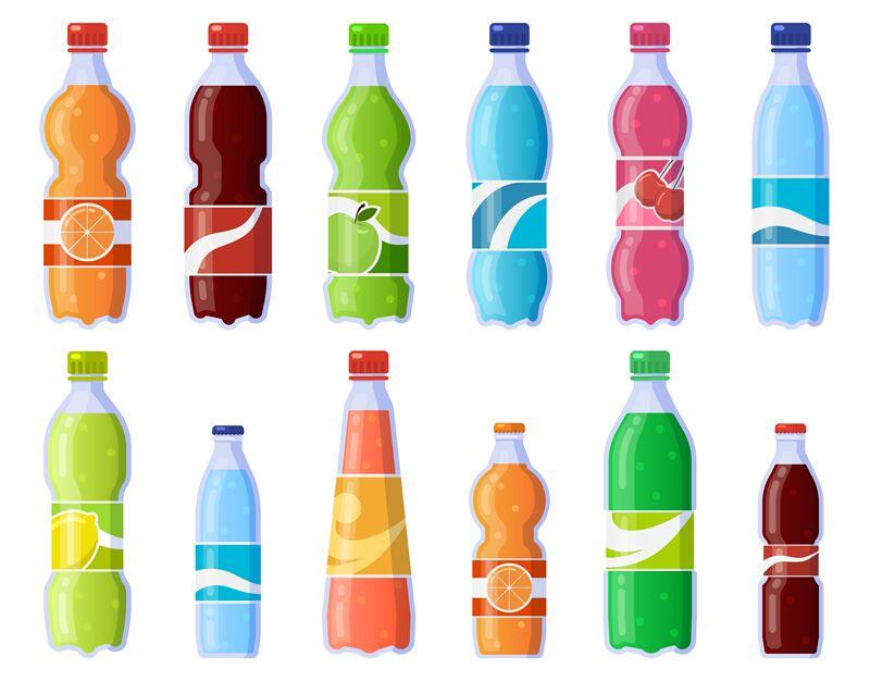 Soda Drink Bottles Soft Drinks In Plastic Bottle Sparkling Soda