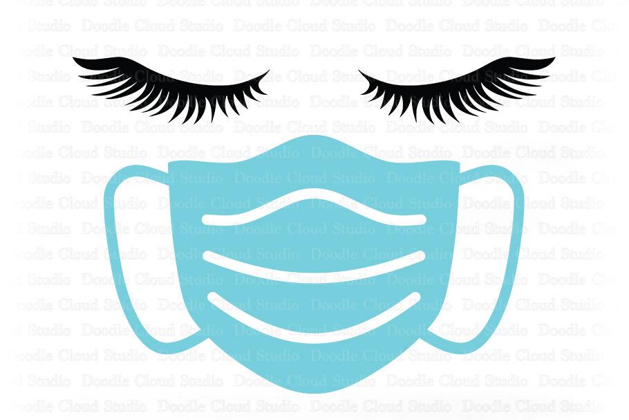 Quarantine Svg Face Mask Svg Woman Face Svg Nurse Svg By Doodle