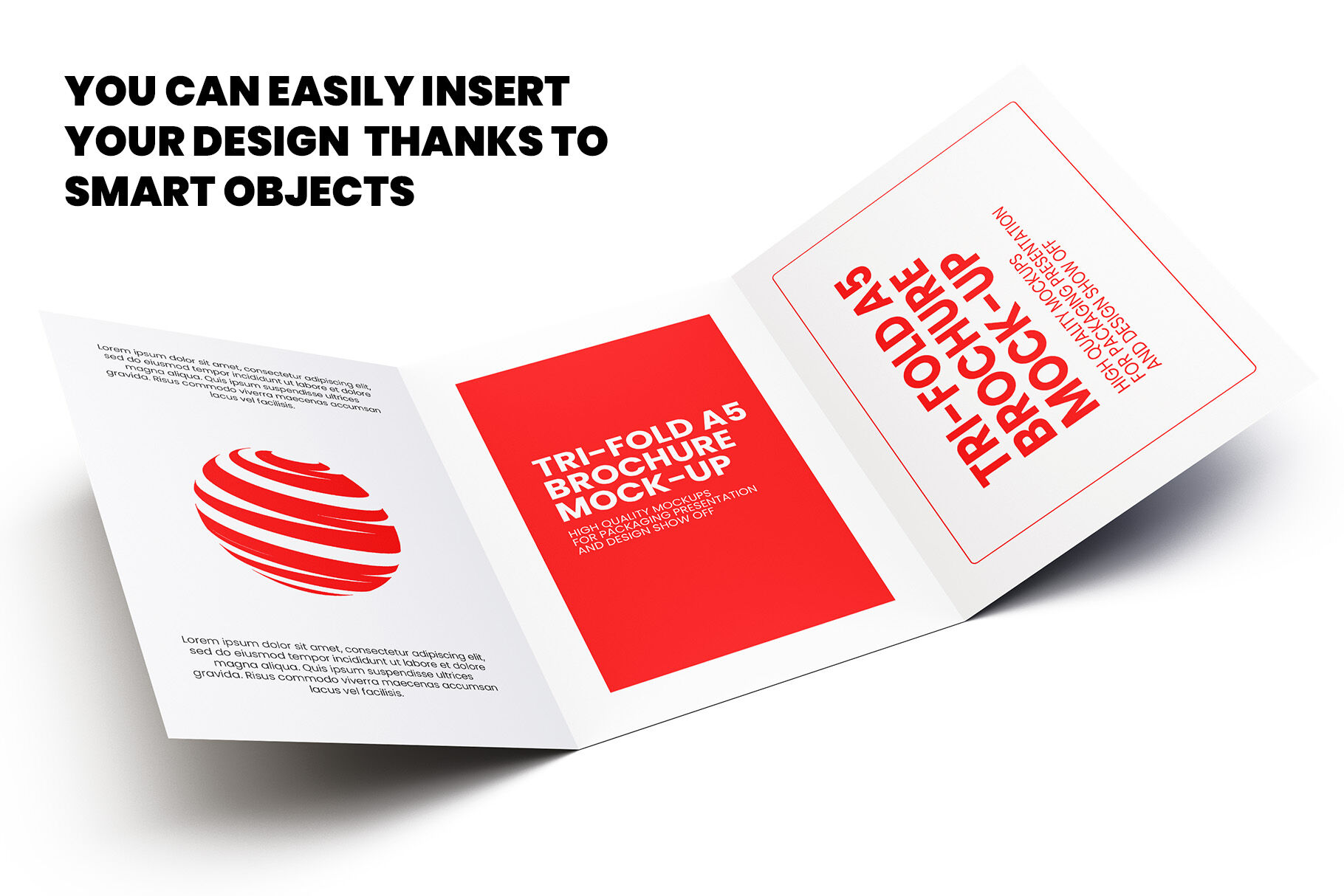 Download 4 Fold Brochure Mockup Psd Yellow Images