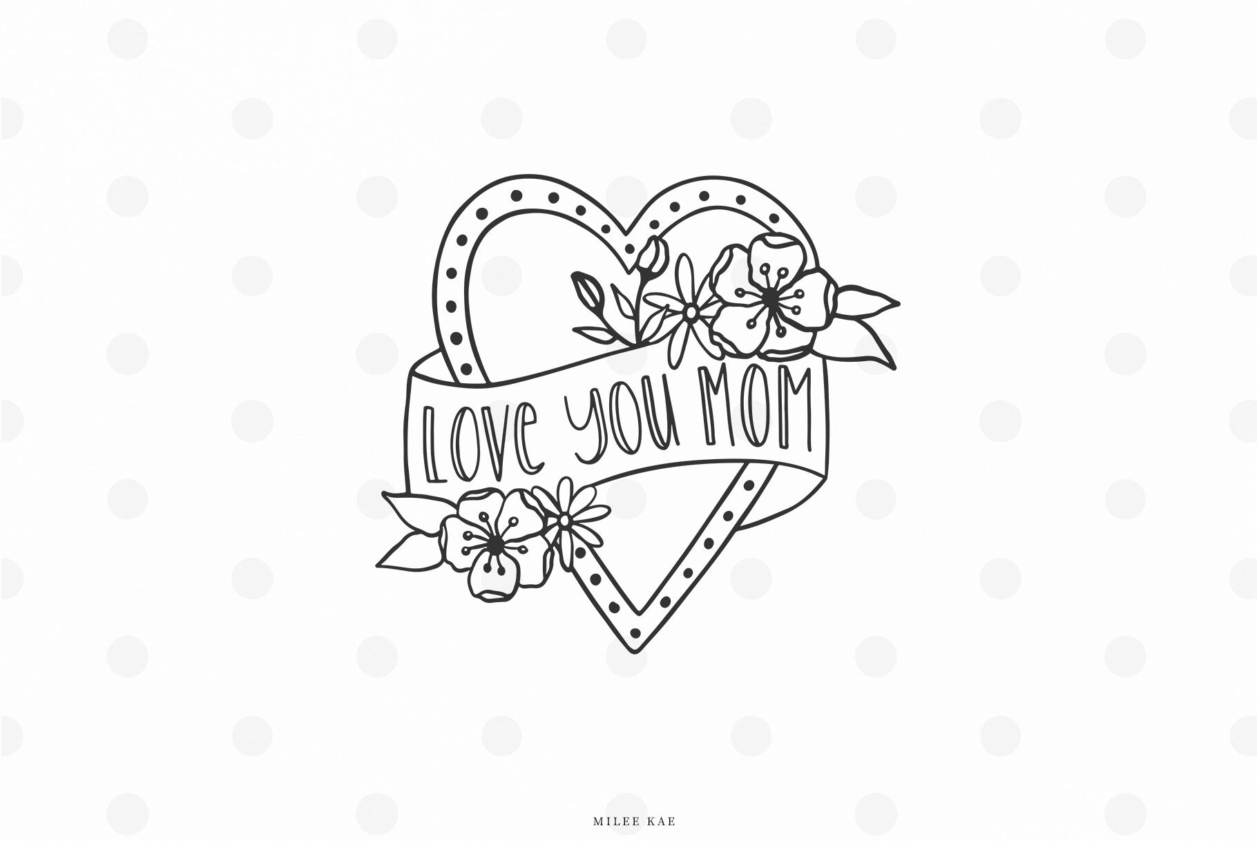 Mothers Day Svg Cut File By Mileekae Thehungryjpeg Com