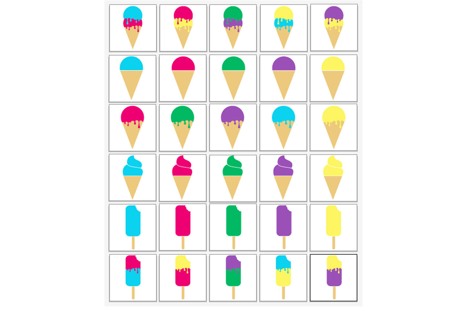 Ice Cream Svg Bundle Ice Cream Cone Popsicle Clipart By Gjsart